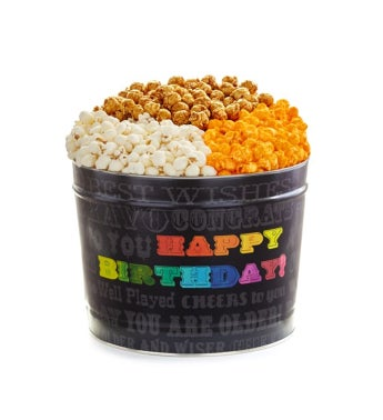 Say It In Color 2 Gallon Happy Birthday Popcorn Tin