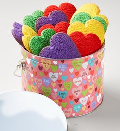 1/2 Gallon Love Out Loud Conversation Heart Cookie Pail