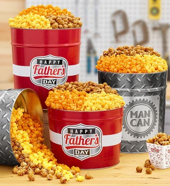 Father's Day Popcorn Tins