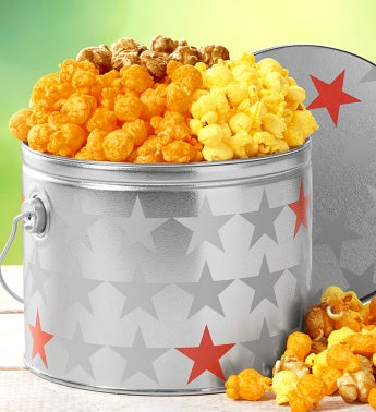 Patriotic 1/2 Gallon Pail Of Popcorn