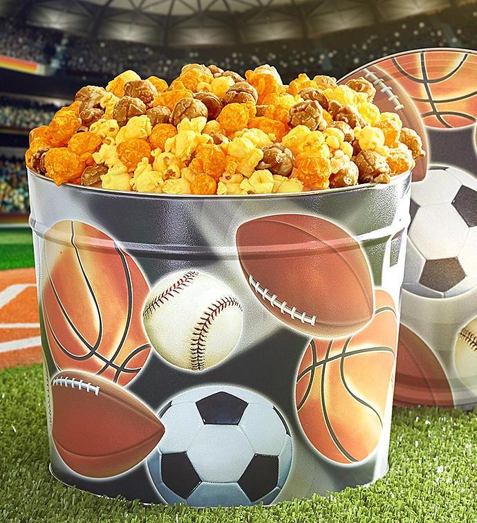Sport Balls Popcorn Tin