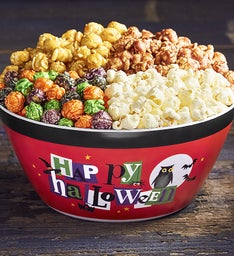 Happy Halloween Popcorn Bowl