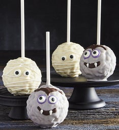 Monster Mash Mummy And Dracula Popcorn Balls