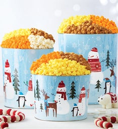 Christmas Popcorn Tins | Christmas Food Gifts | The Popcorn Factory