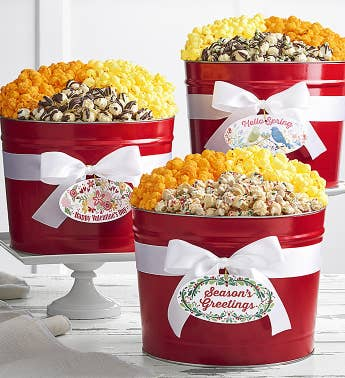 3-Seasons Holiday Popcorn Tin Club