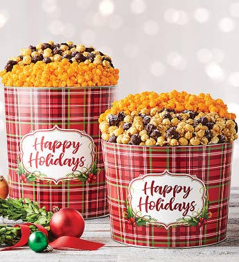Holly Plaid Happy Holidays Deluxe Flavors