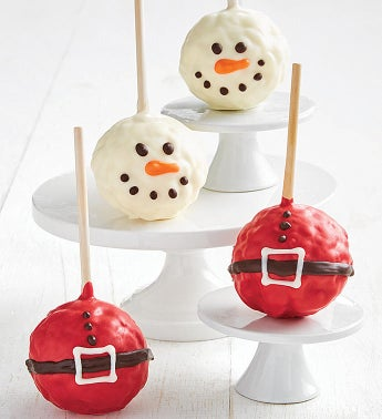 Snowman And Santa Belt Popcorn Balls Set Of 4