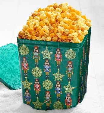 3 Gallon Nutcracker Ornament Surprise  Delight Popcorn Tin