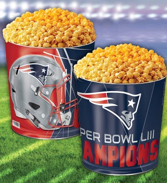 New England Patriots Super Bowl LIII Commemorative Popcorn Tin
