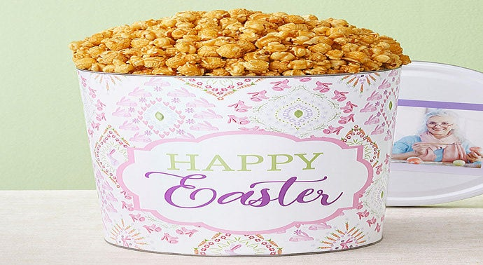 Happy Easter 3 12 Gallon Pick a Flavor Popcorn Tins