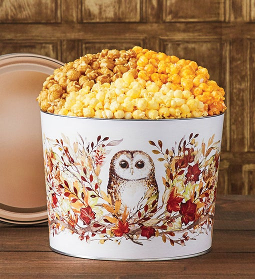 Fall Into Autumn Popcorn Tins