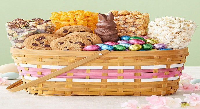 Happy Easter Wicker Basket