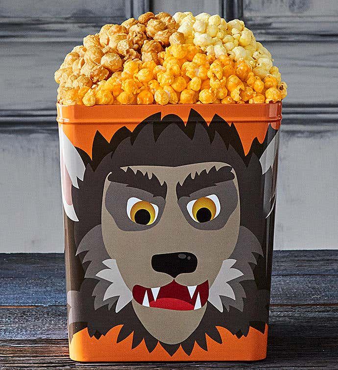 TPF Monster Mash Werewolf 3 1/2 Gallon 3 Flavor Popcorn Tin