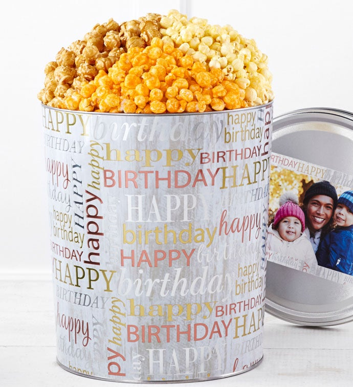 Birthday Brilliance Popcorn Tins
