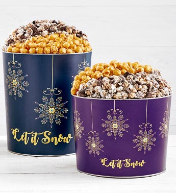 Let It Snow Deluxe Popcorn Tins