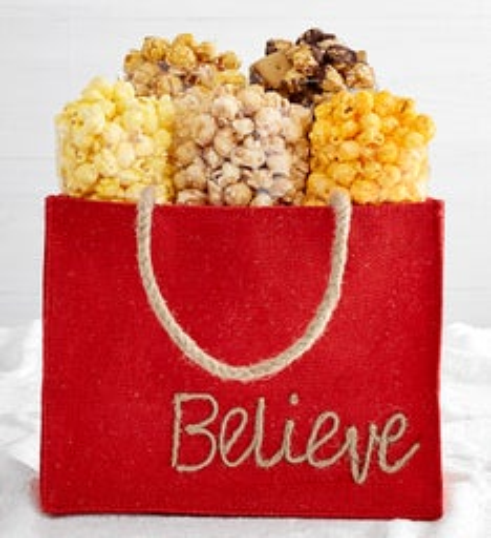 Holiday Burlap Bags  Believe