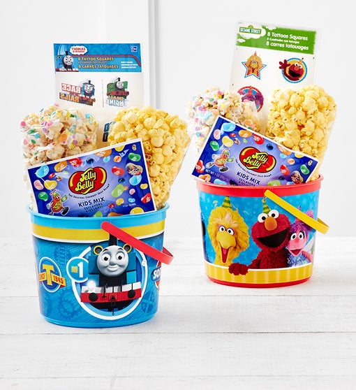 New! Thomas the Train or Seasme Street Buckets