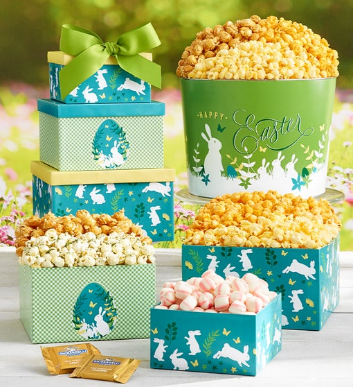 Easter Elegance 3 Gift Box Tower and Tin