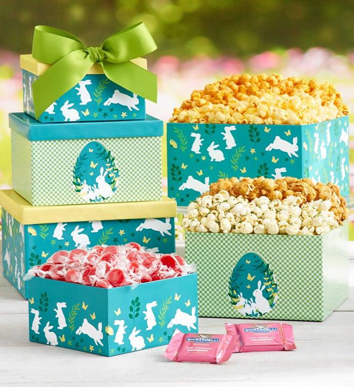 Easter Elegance  Gift Box Tower