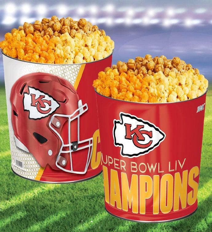 Kansas City Chiefs Super Bowl LIV Commemorative Popcorn Tin
