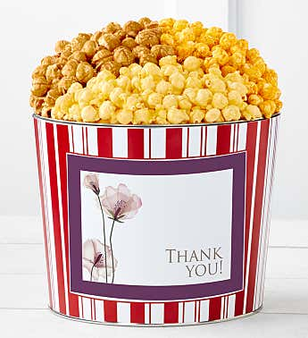 Tins With Pop® Thank You Purple Flowers