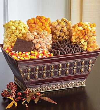 Autumn Canvas Gift Basket