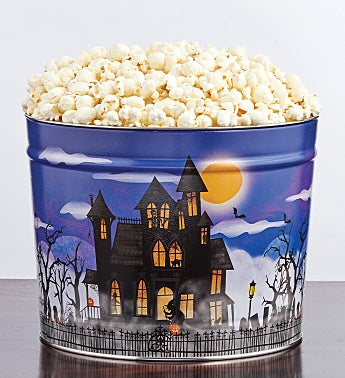 Fright Night 2 Gallon Pick-a-Flavor Popcorn Tins