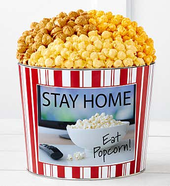 Tins With Pop® Stay Home Eat Popcorn
