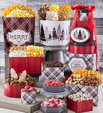 Christmas Popcorn Tins Christmas Food Gifts The Popcorn Factory