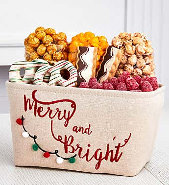 Merry And Bright Gift Basket