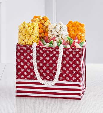 Red Snowflake Holiday Gift Tote