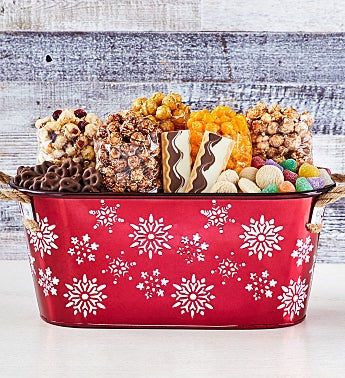 Red Snowflake Gift Basket
