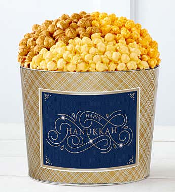 Tins With Pop® Happy Hanukkah Blue Gold