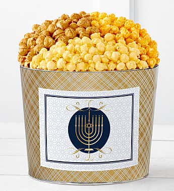 Tins With Pop® Hanukkah Candle White Background
