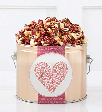 Blushing Branches 1/2 Gallon Popcorn Pail Chocolate Covered Strawberry