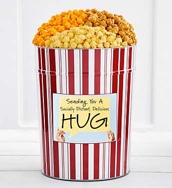 Tins With Pop® 4 Gallon Socially Distant Hug - Sign