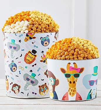 Party Animals Popcorn Tins