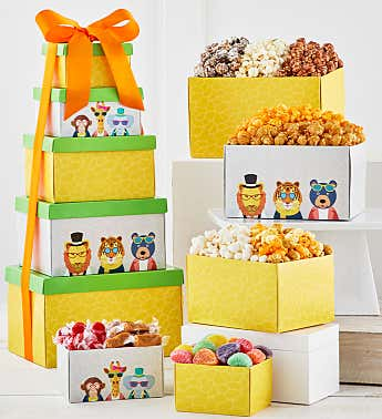 5 Gift Box Party Animals Tower