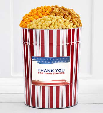Tins With Pop® 4 Gallon Thank You For Your Service