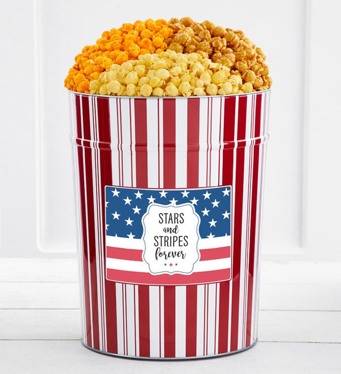 Tins With Pop® 4 Gallon Stars & Stripes Forever