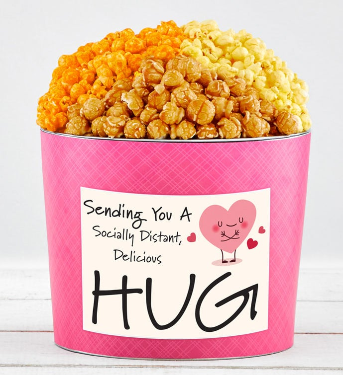 Tins With Pop® Socially Distant Hug Heart Pink Tin