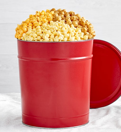 3 1/2 Gallon Really Red Popcorn Tin