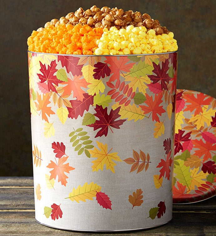 Hello Autumn Popcorn Tins
