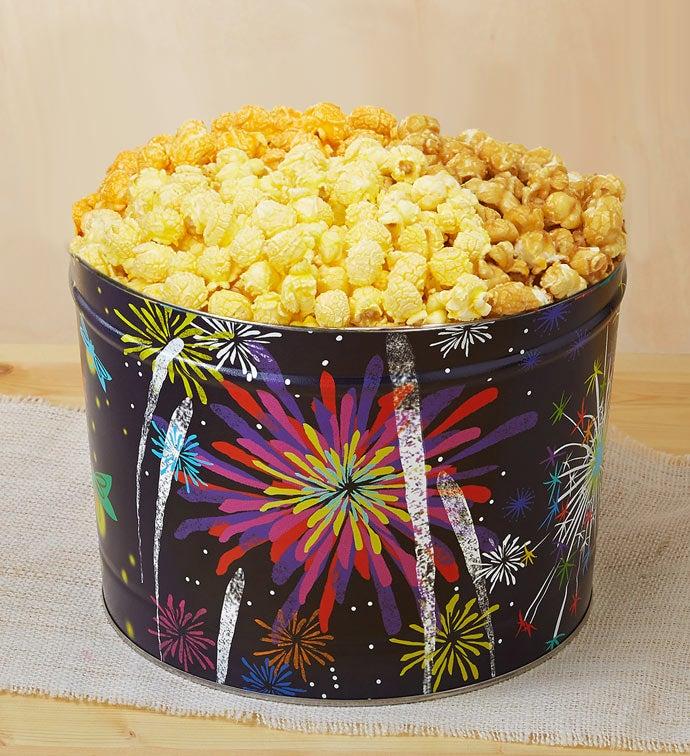 Fireworks Popcorn Tin - 2 Gallon 3- Flavor