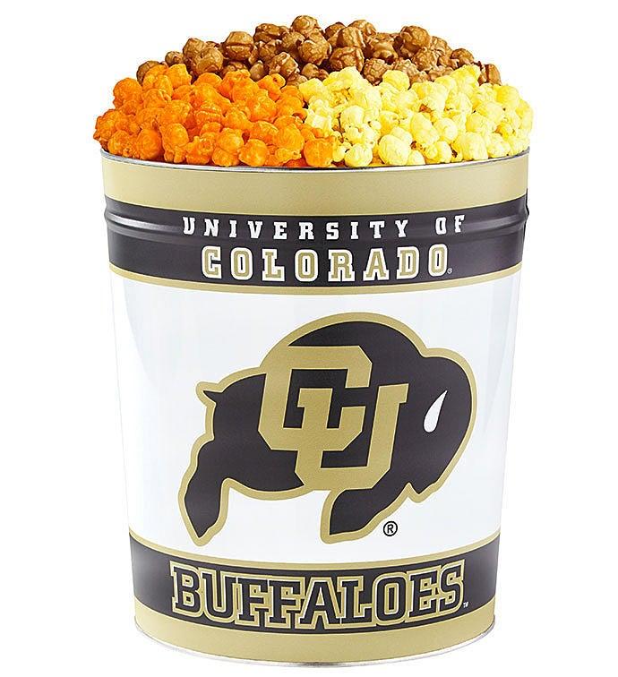 Gallon University of Colorado Flavor Popcorn Tins