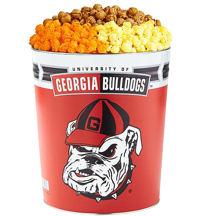 Gallon University of Georgia Flavor Popcorn Tins