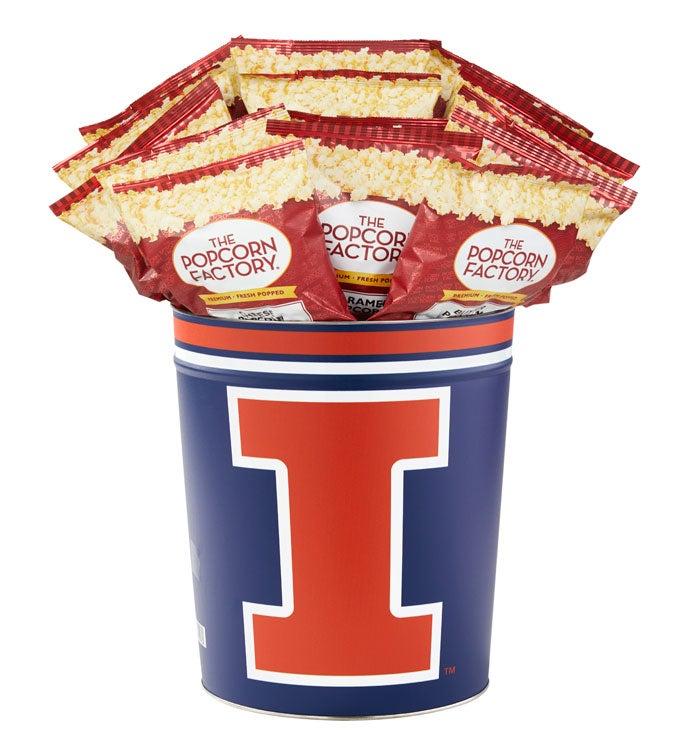 Gallon University of Illinois  Flavor Popcorn Tins