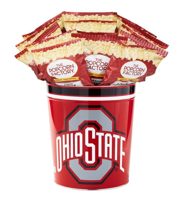 Gallon Ohio State University Flavor Popcorn Tins