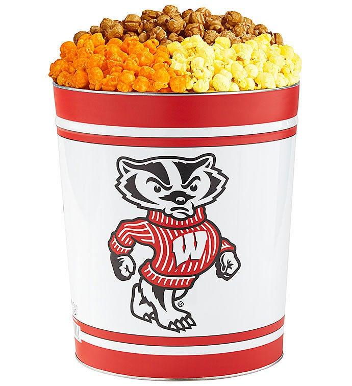 Gallon University of Wisconsin  Flavor Popcorn Tins