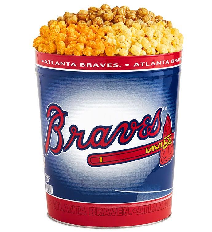 Atlanta Braves Flavor Popcorn Tins